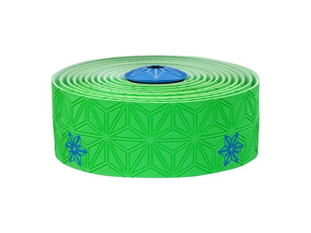 Supacaz Super Sticky Kush Lenkerband neon grün/neon blau Print